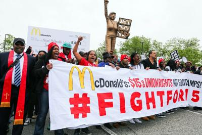 McDonald's shuts down restaurant amid protest over low wages