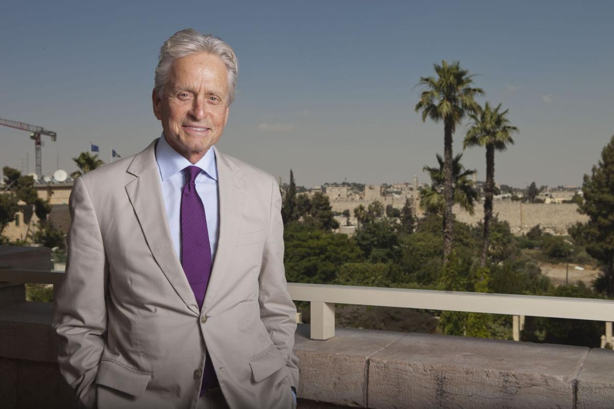 Michael Douglas in Israel for $1 million Genesis Prize