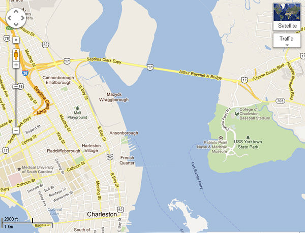 Charleston man gets Google Maps bridge error corrected