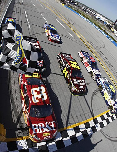 .002 So Close at Talladega: With a big boost from Earnhardt, Johnson beats Bowyer by a bumper in NASCAR thriller