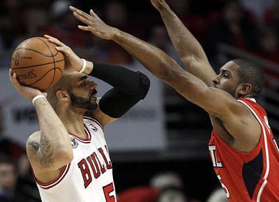 Hawks stun top-seeded Bulls in opener