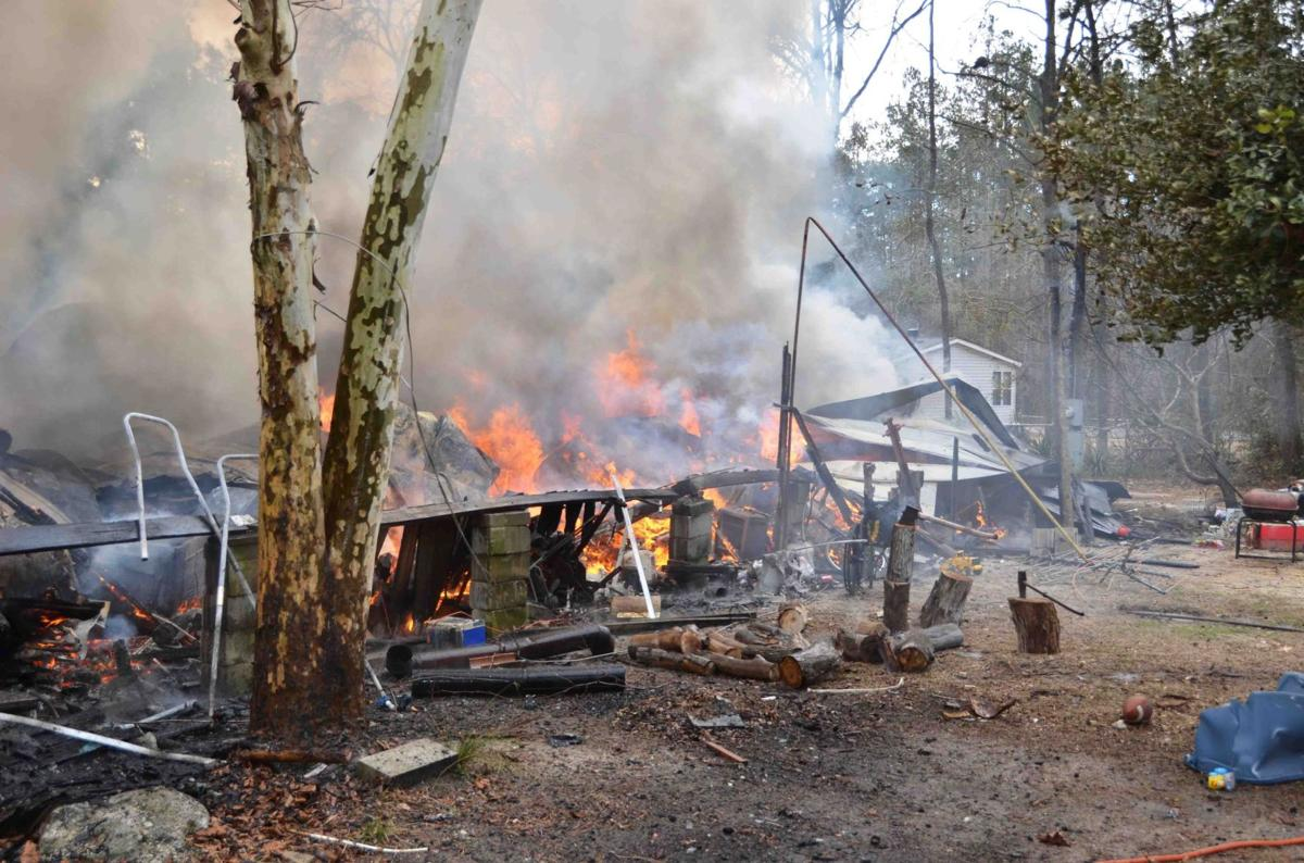 Colleton County family of 5 displaced after mobile home is destroyed by fire
