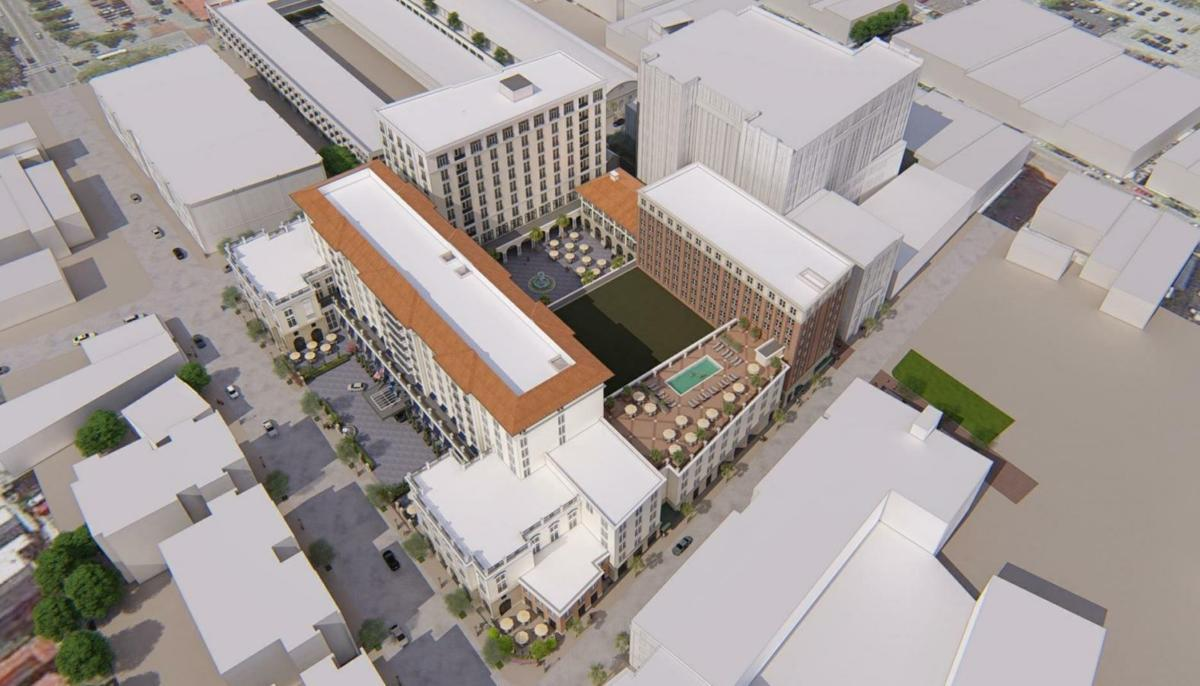 411 Meeting Street aerial view
