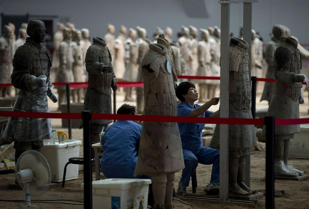 China excavating at tomb to reveal more Terra Cotta Warriors