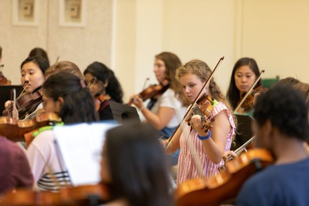 Students at Charleston Chamber Music Intensive