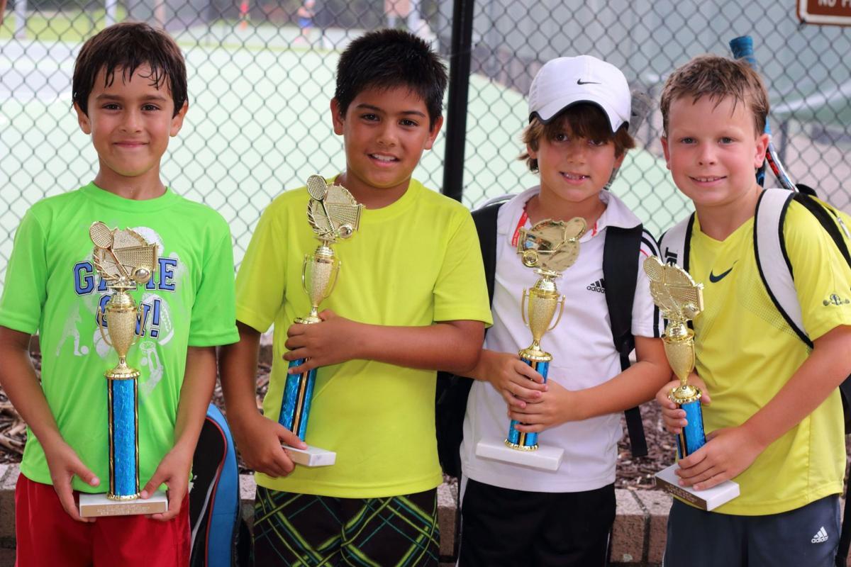 Boys 10 doubles winners