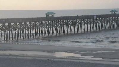 Slight chance of showers, highs near 84 today