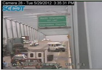 Traffic moving again after crash shuts down westbound lanes of Don Holt bridge