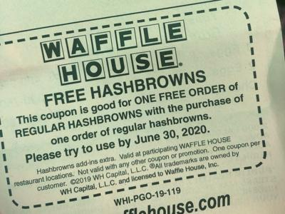 Waffle House coupon from North Charleston store
