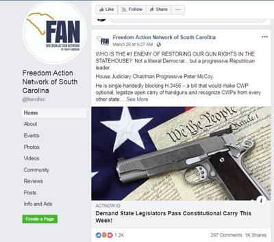 Freedom Action Network post about Peter McCoy