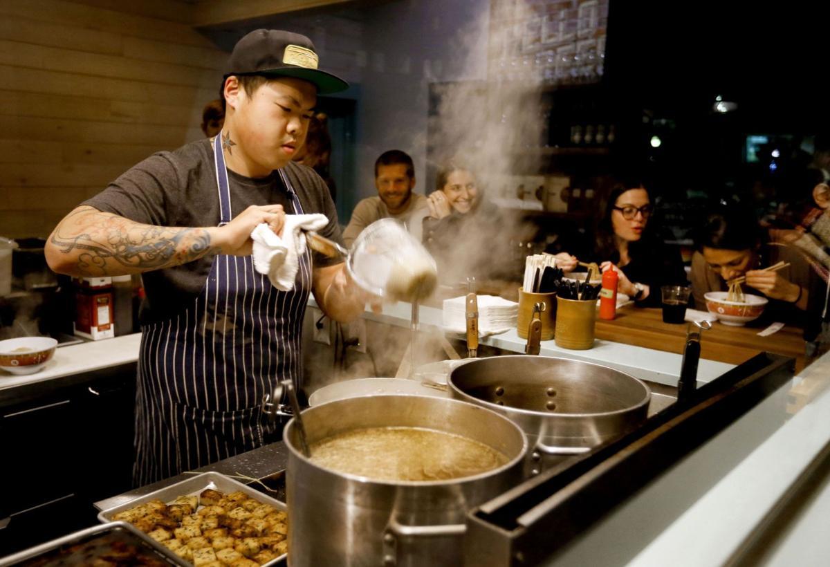Spaghetti dumplings on menu for Short Grain/AMS event