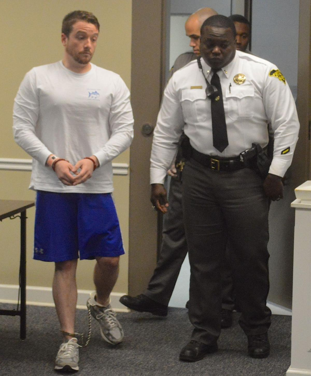 Chris Corley bond hearing 2016 - ankle chains