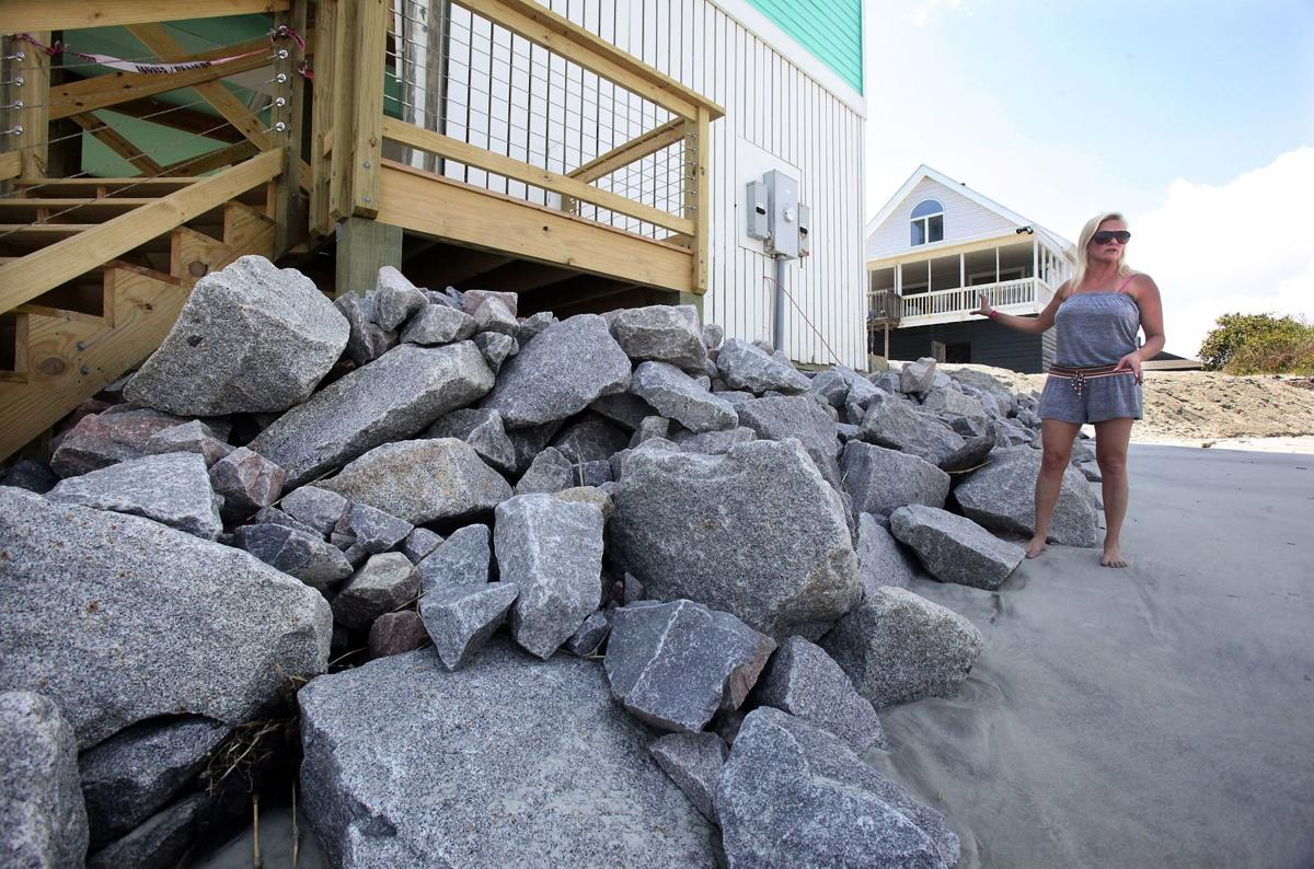 Folly homeowners keep right to defend their beach property Folly erosion has residents in revolt Desperate homeowners take action as funding woes delay relief