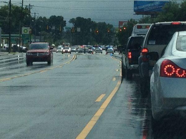 Wreck slowing traffic on Ashley Phosphate Road in North Charleston