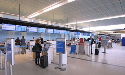Charleston International Airport ticket counters (copy)