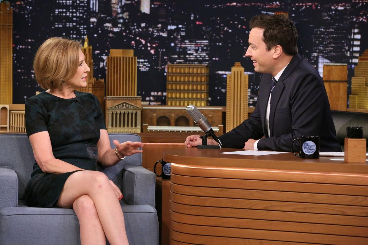 GOP's Fiorina shows off a lighter side on 'The Tonight Show'