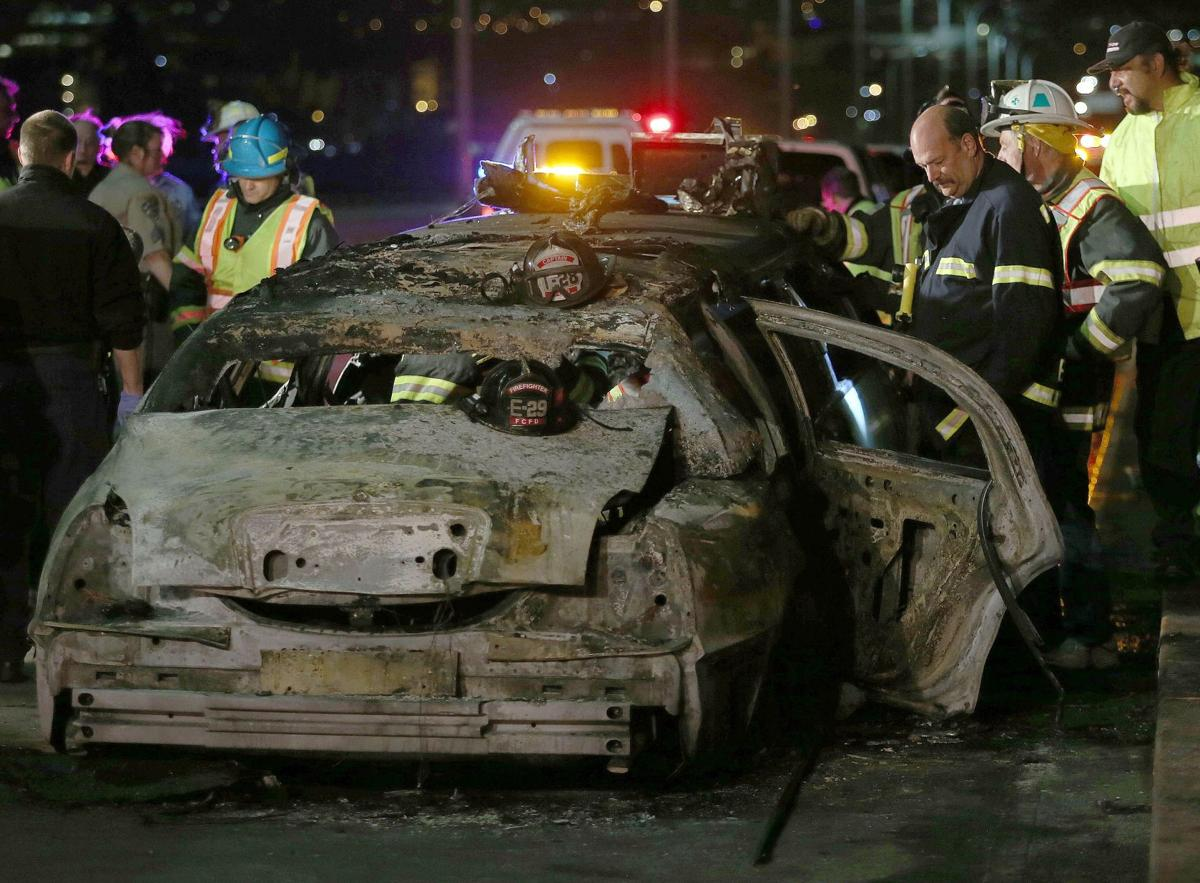 Bride, 4 others die in limo fire on California's San Francisco Bay Bridge