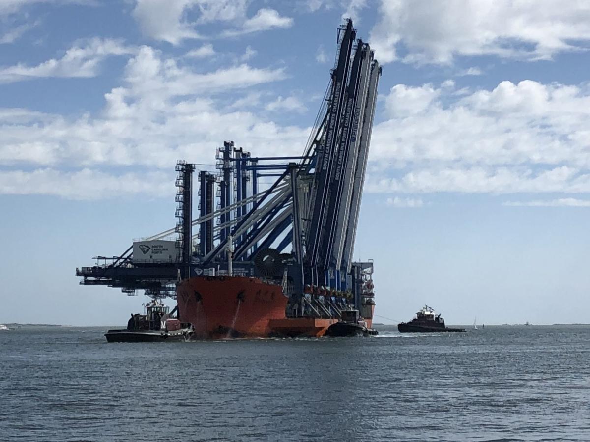 Port of Charleston cranes for Wando Welch Terminal (copy)