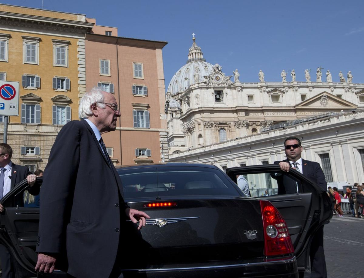 Sanders' trip blurs message from the pope