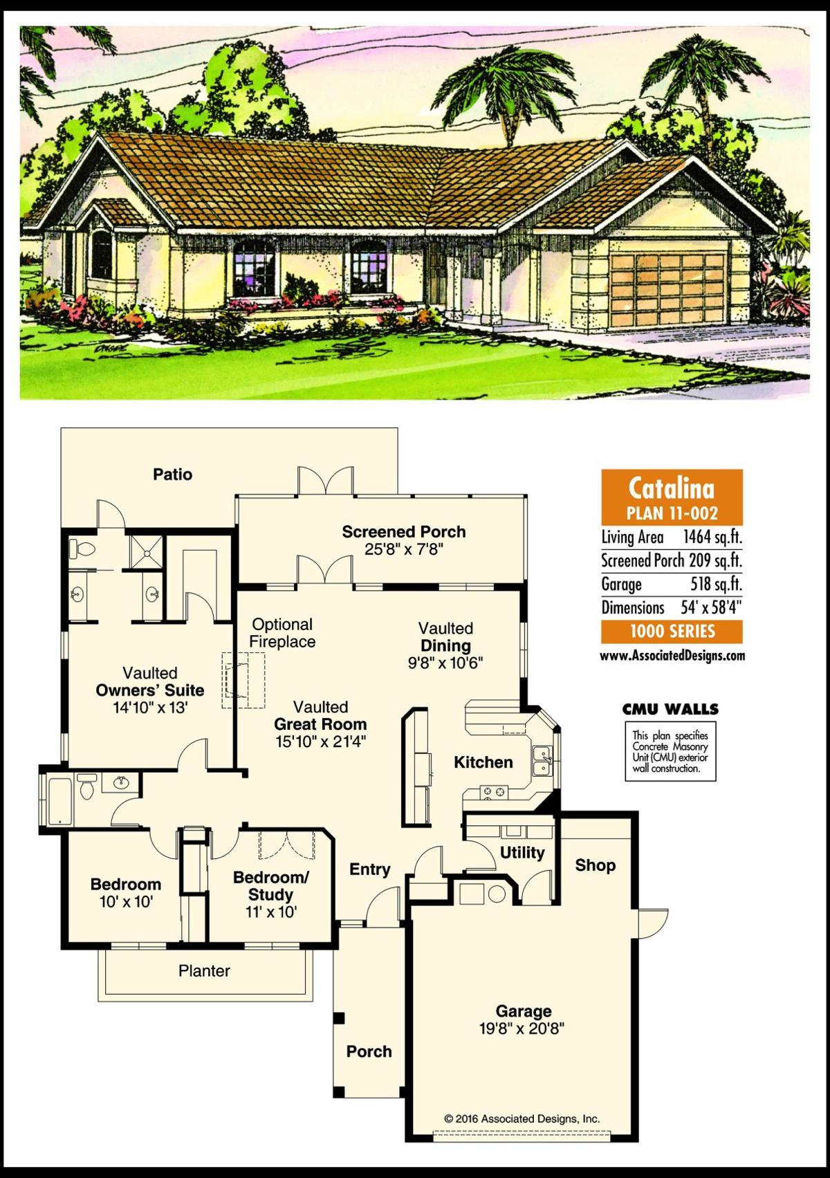 This week's house plan Catalina 11-002
