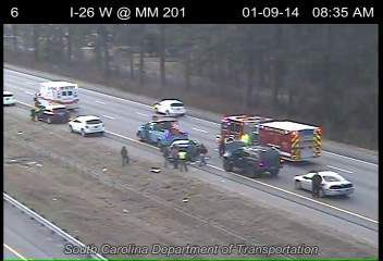 Wreck stalling traffic eastbound on I-26