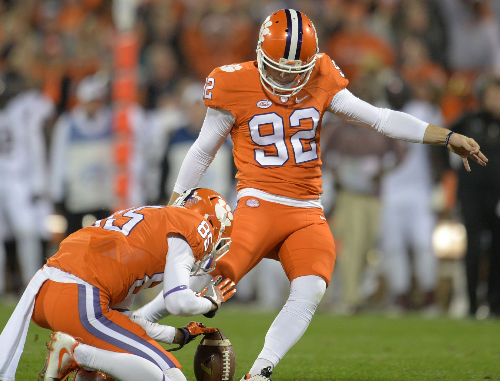 Clemson kicker Greg Huegel hurt at practice Wednesday