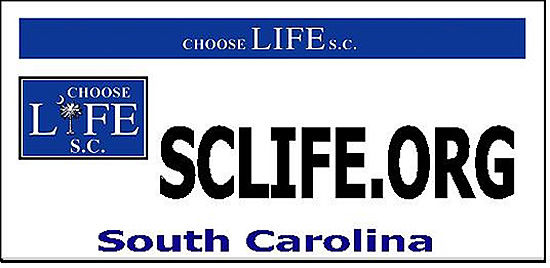 'Choose Life S.C.' license plates to be available soon