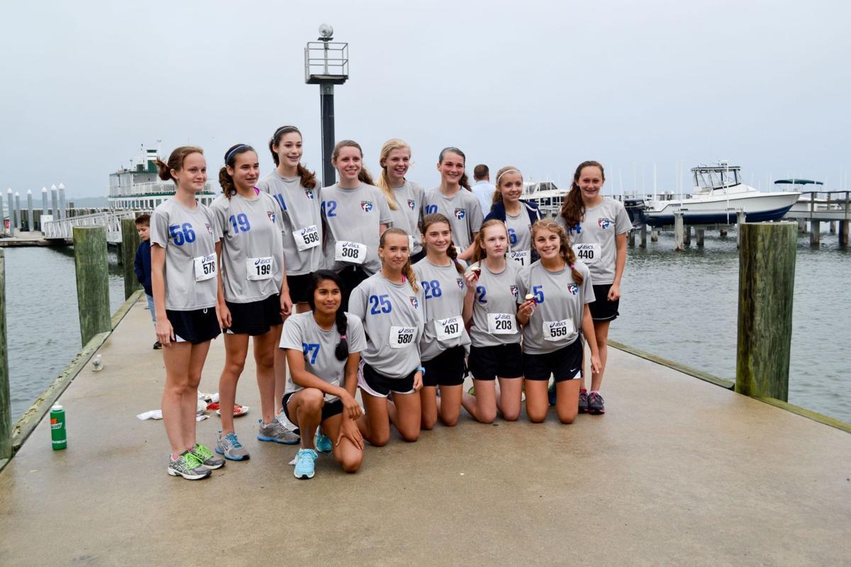 Girls soccer team straps on running shoes for 5K event