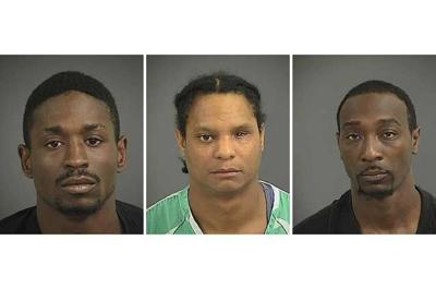 Three men accused of holding up pair of Mount Pleasant men on Coleman Boulevard