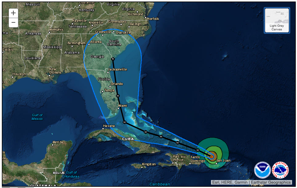 Worksheet. Nudges in dangerous Hurricane Irma track could make big difference