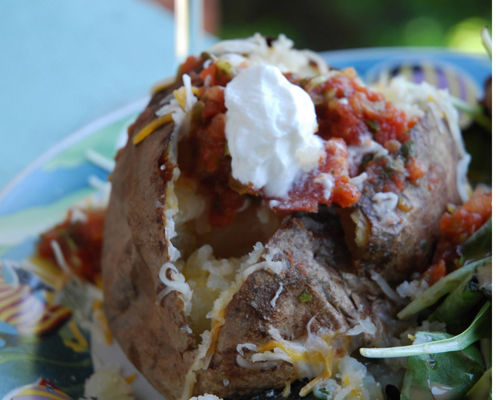 High heat secret to baked potatoes