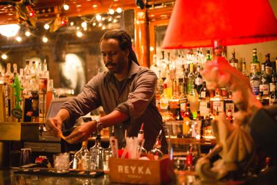Opie Patterson, owner of Goat's, mixes a Scarlett O'Hara (copy)