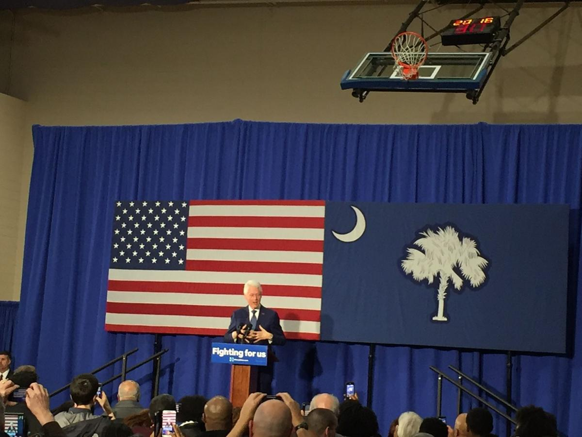 Bill Clinton touts wife as a 'change-maker' for workers, women at S.C. campaign rally