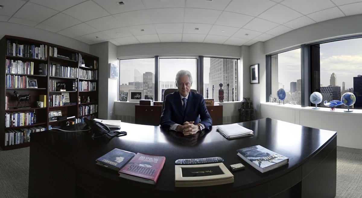 Bill Clinton appears in virtual-reality movie