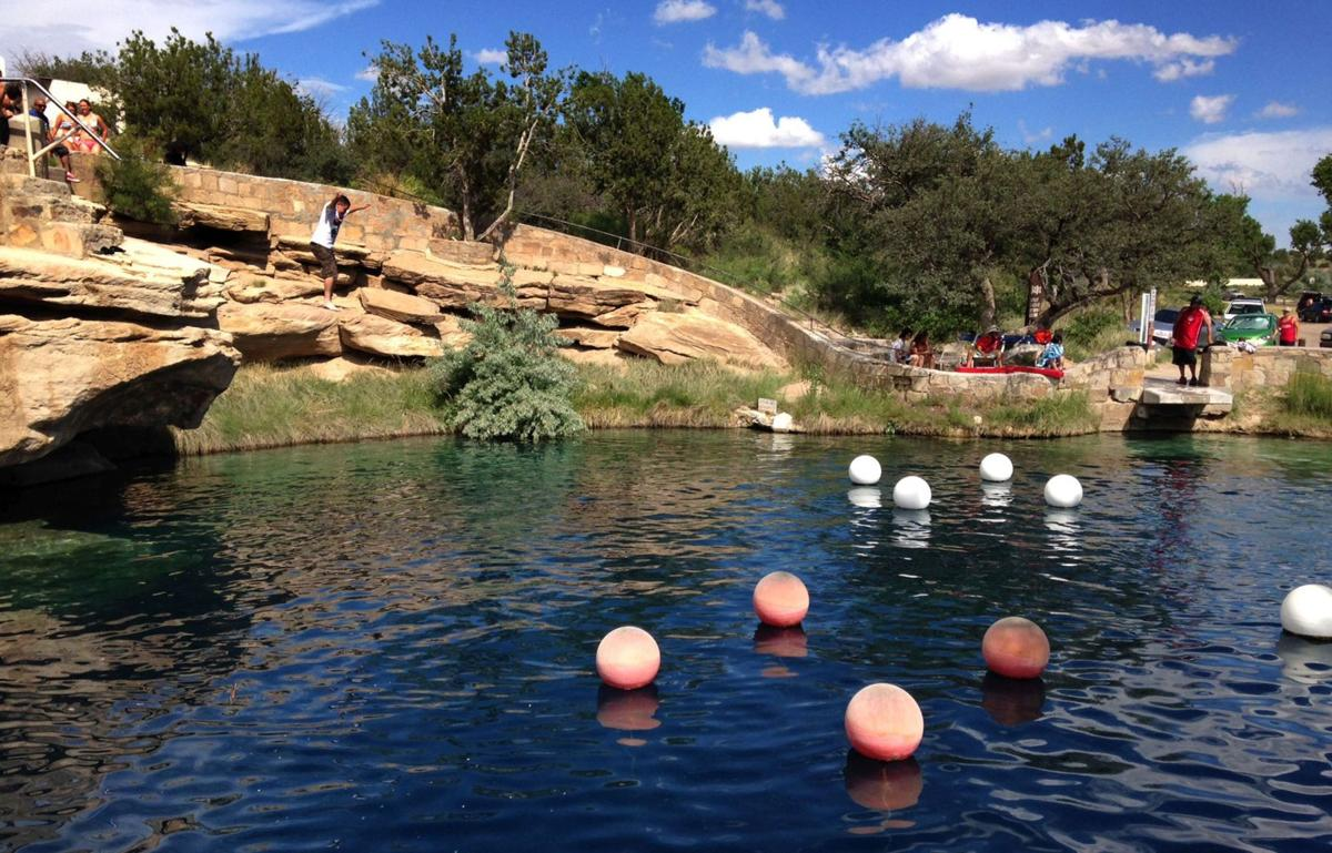 Mysterious Blue Hole draws visitors to N.M.