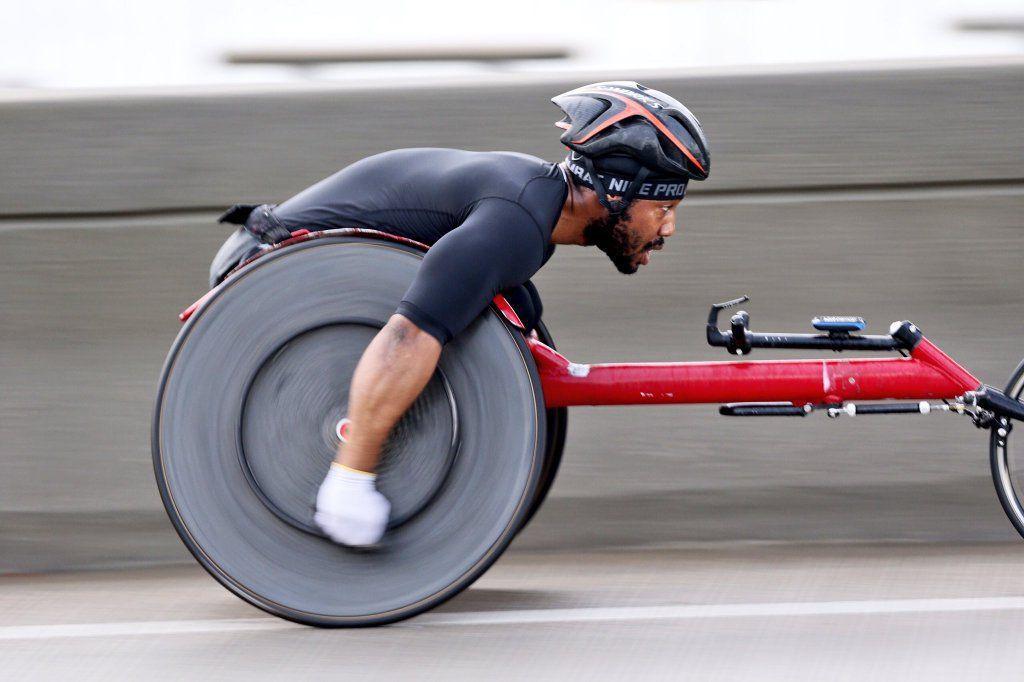 James Senbeta wins wheelchair division