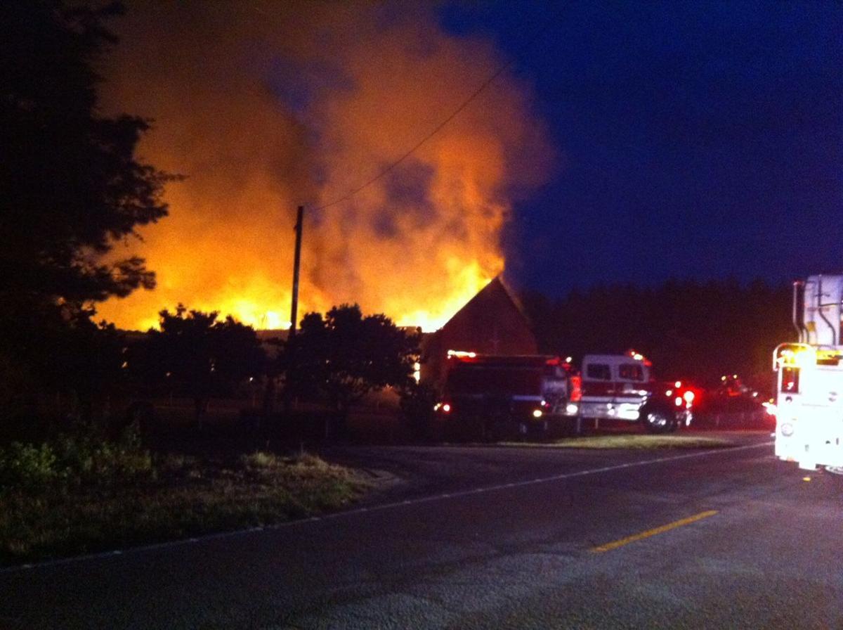 Fire again destroys black church