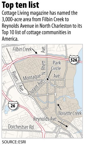 North Charleston area ranked in nation's Top 10 cottage communities