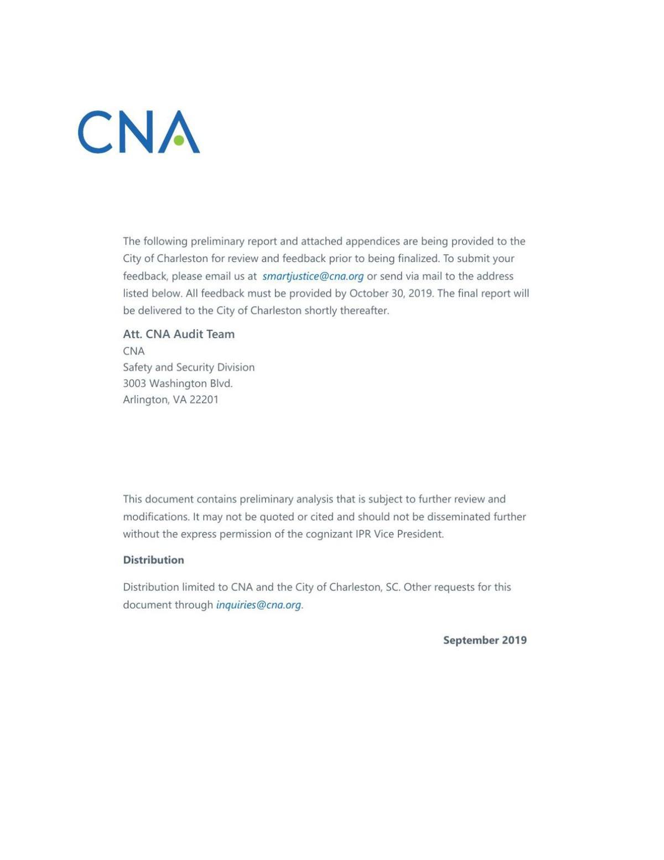 CNA Charleston Police Audit