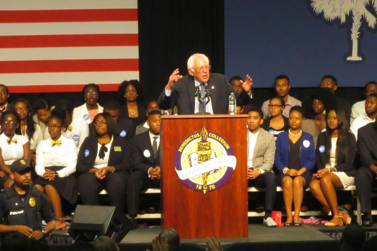 Bernie Sanders courts minority voters in Columbia