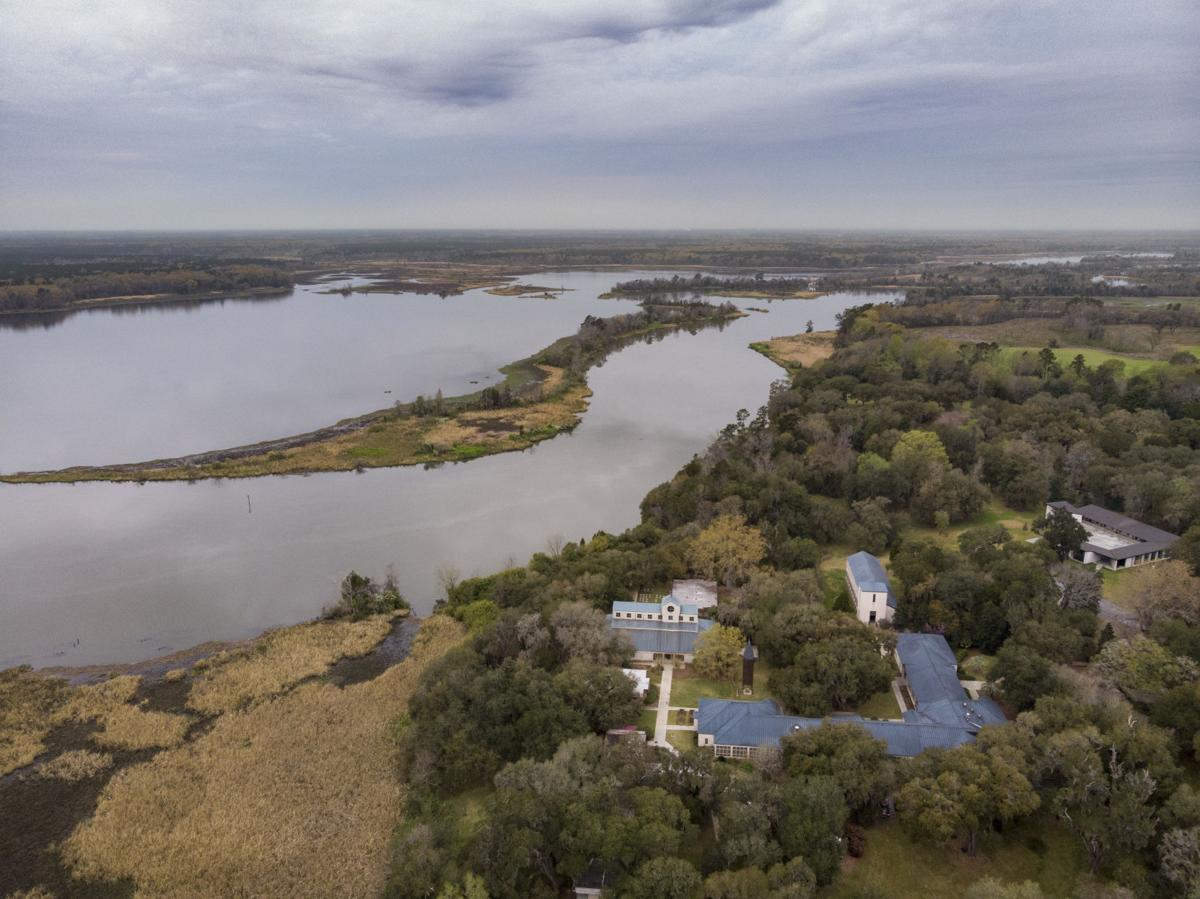 Cooper River Historic District Mepkin Abbey Aerial 02.JPG