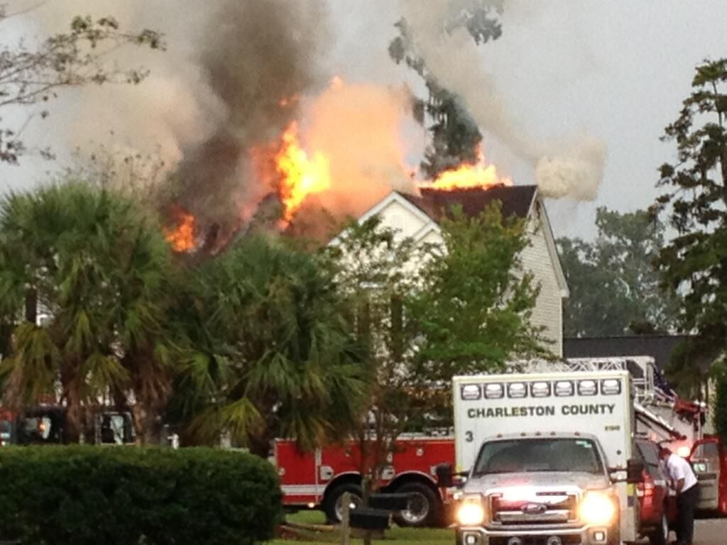 Lightning strike suspected in West Ashley house fire