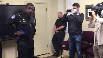 Chester police chief demonstrates how to shoot while handcuffed
