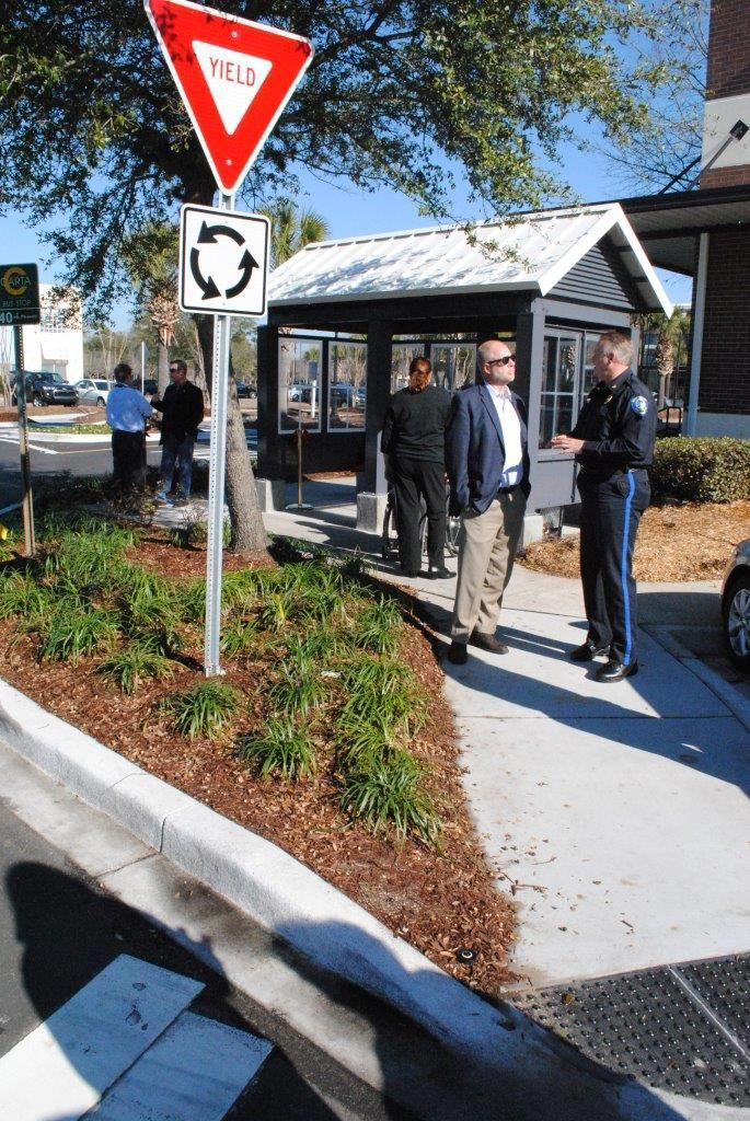 $30,000 shelters added at Towne Centre bus stops