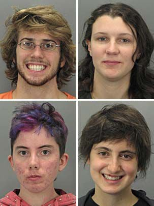 4 arrested atop generator part