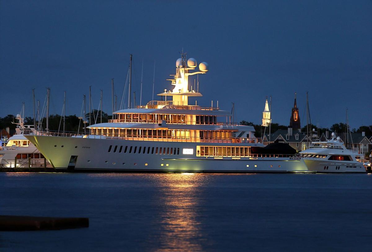 Mark Cuban's yacht docked at Charleston City Marina