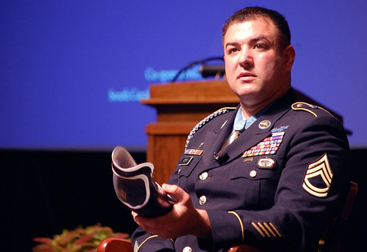 Medal of Honor recipient tells cadets it's all about attitude