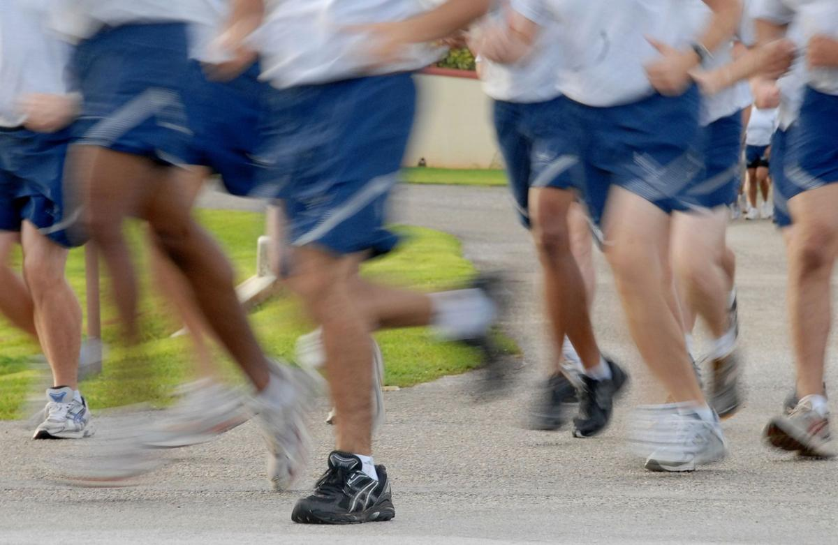Air Force reservist collapsed during final part of run