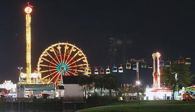 The midway at the Coastal Carolina Fair
