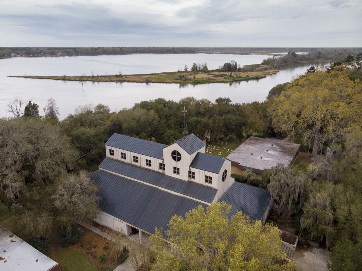Cooper River Historic District Mepkin Abbey Aerial.JPG